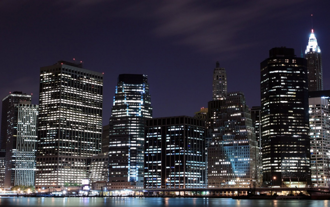 Night in New York City wallpapers