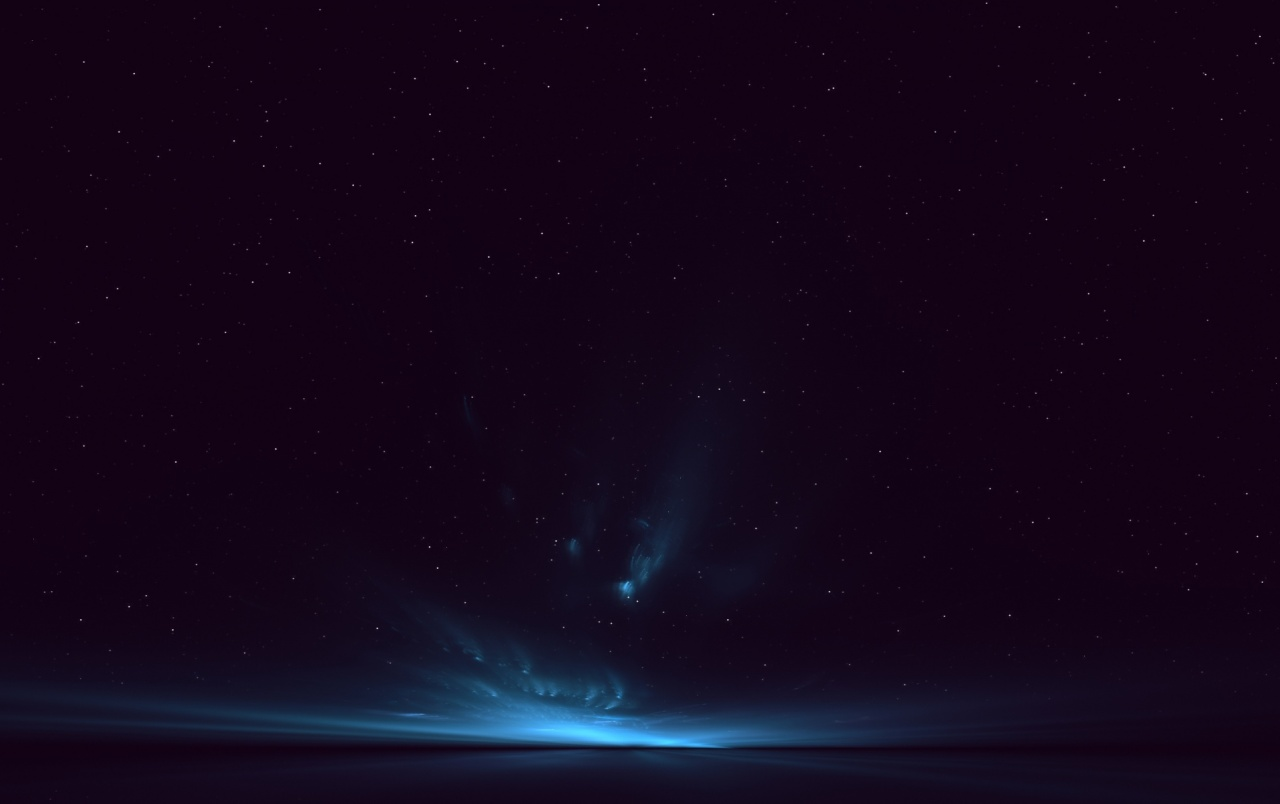 OriginalWide Deep Blue Night Stars Horizon Wallpapers