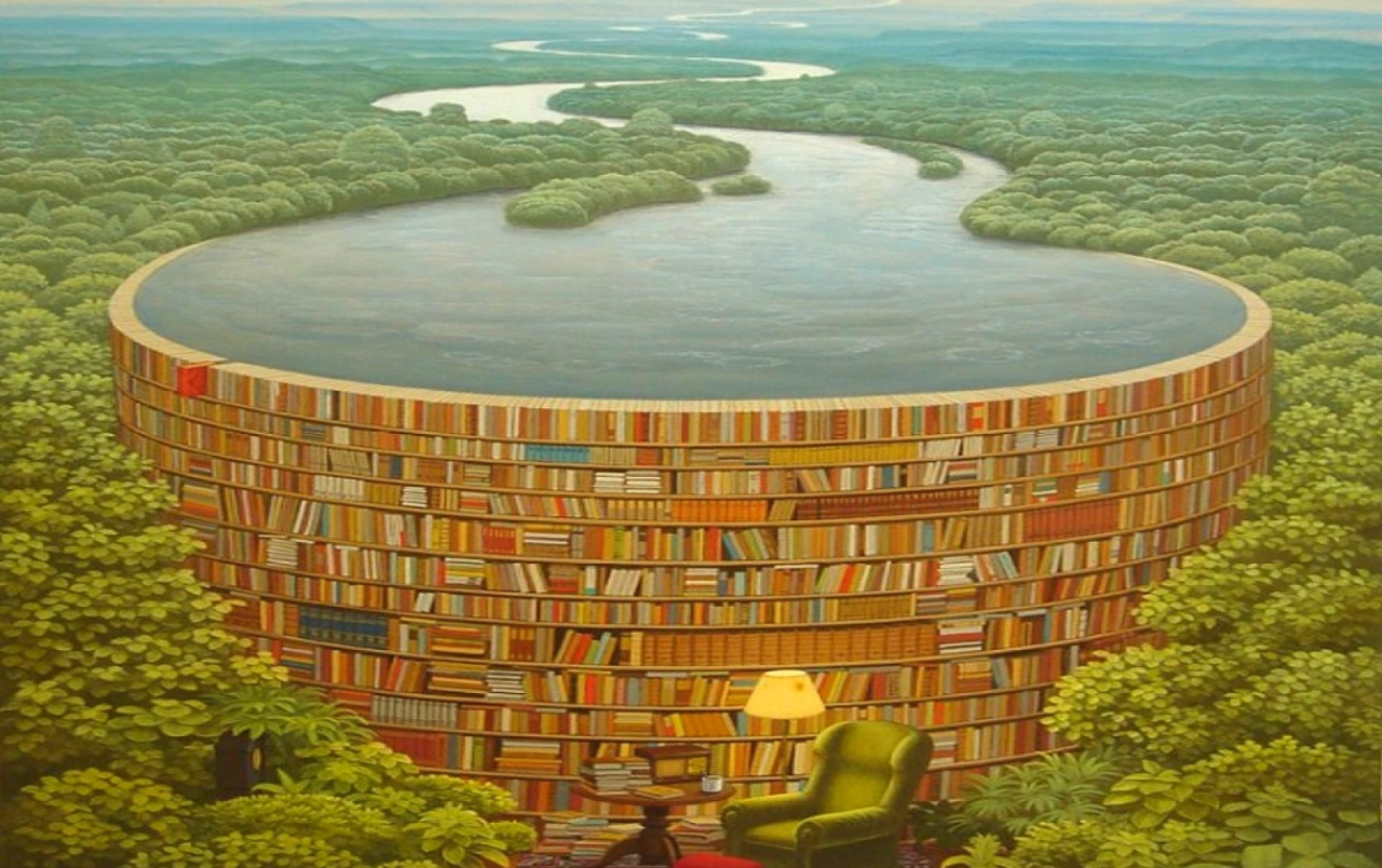 Awesome Surreal Scenery Books Wallpapers