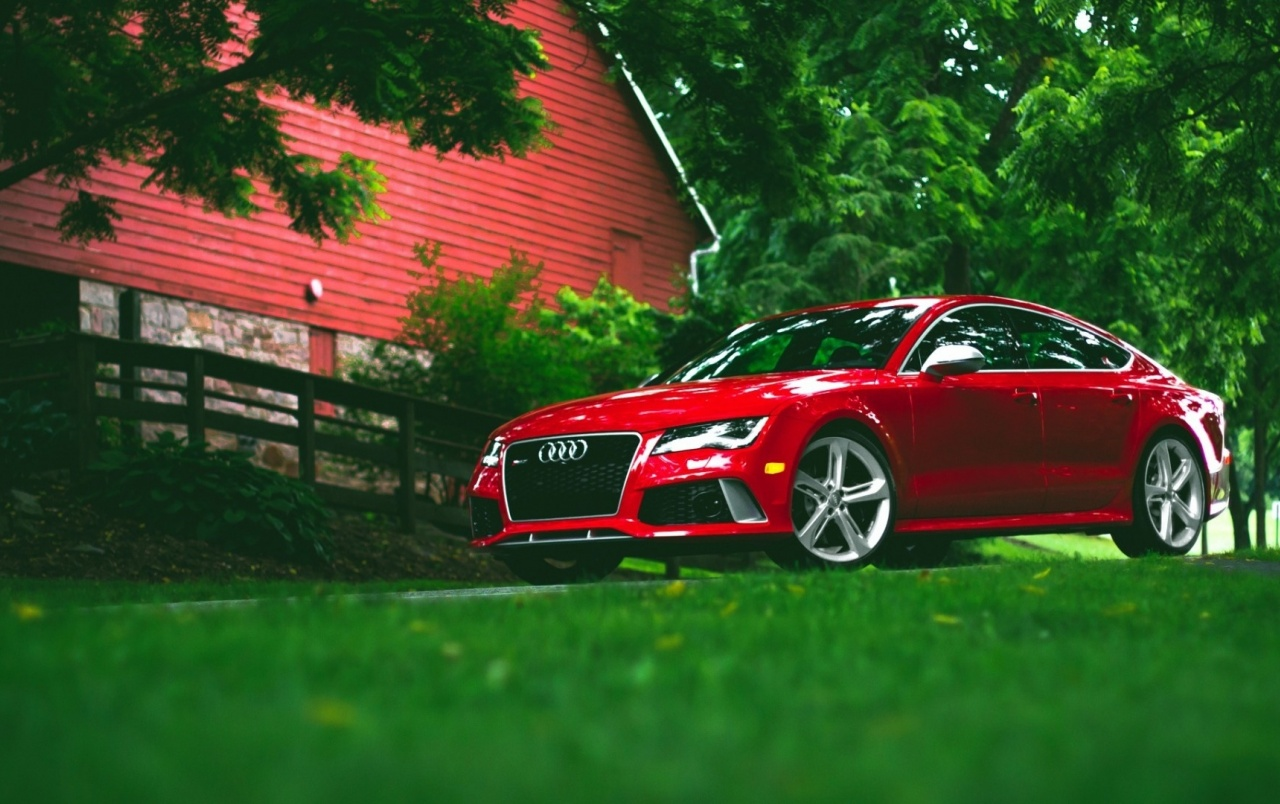 Red Audi RS7 wallpapers