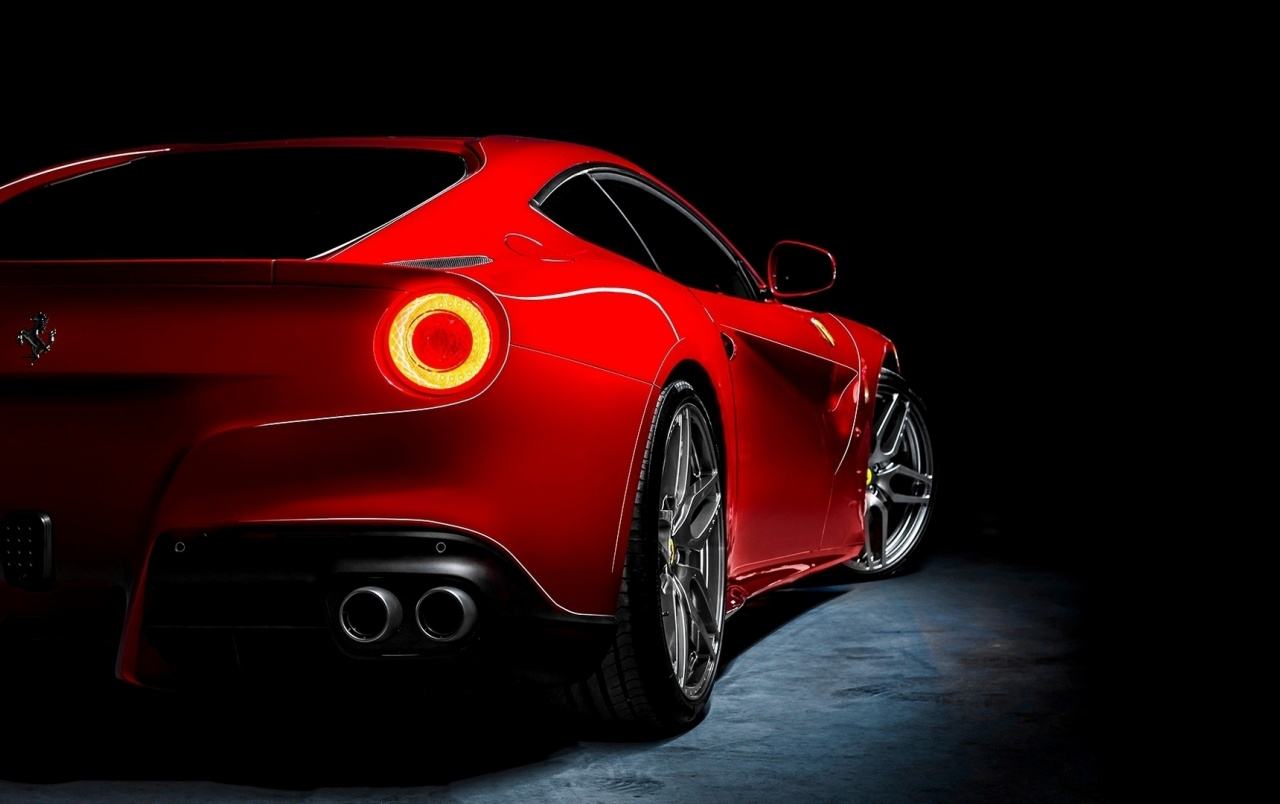 Red Ferrari F12 Berlinetta Rear Angle Wallpapers Red Ferrari F12 Berlinetta Rear Angle Stock Photos