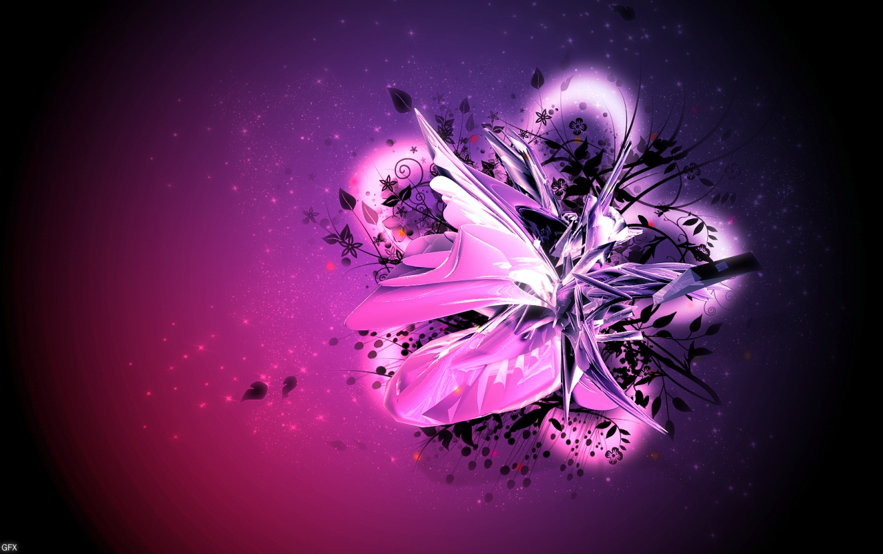Pink Purple Floral Abstract Wallpapers Pink Purple Floral