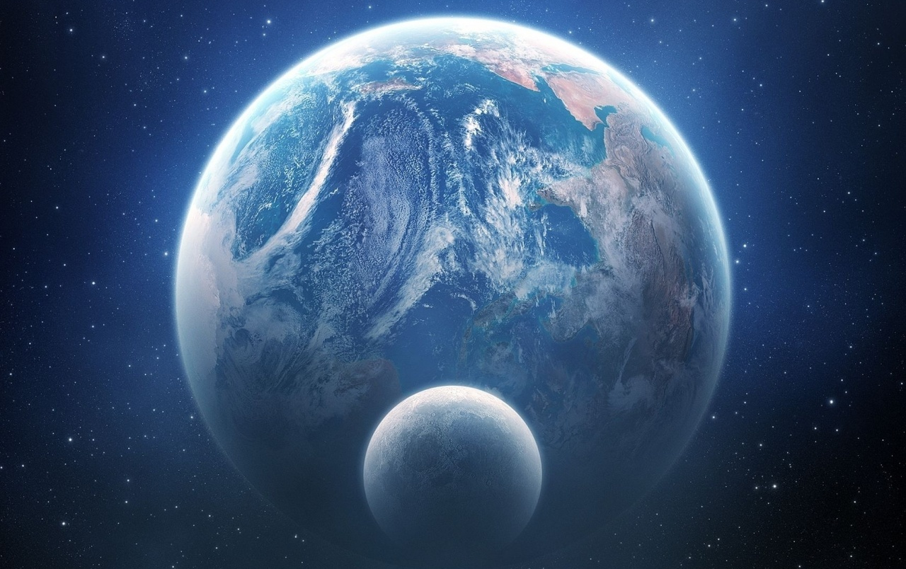 Earth And Moon Outer Space View Wallpapers Earth And Moon Outer