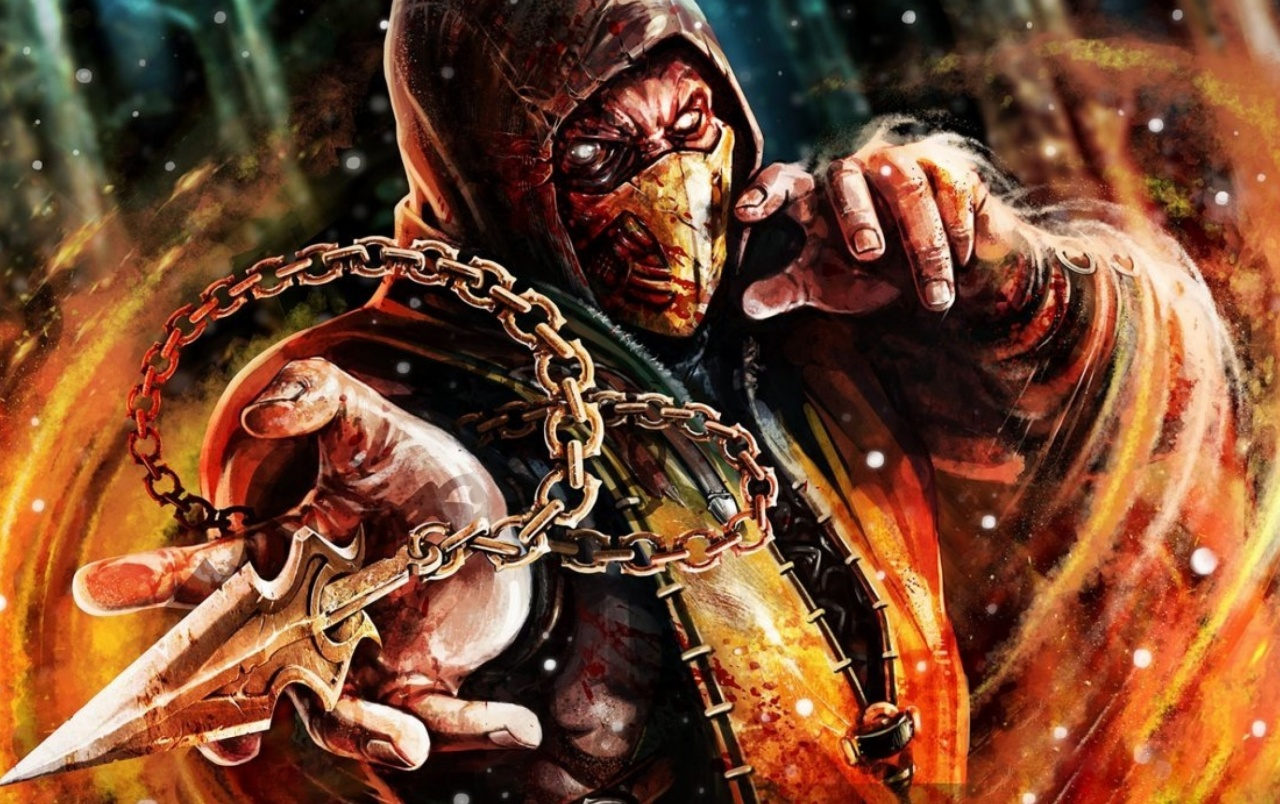 Scorpion mortal kombat x wallpapers scorpion mortal - Mortal kombat scorpion wallpaper ...