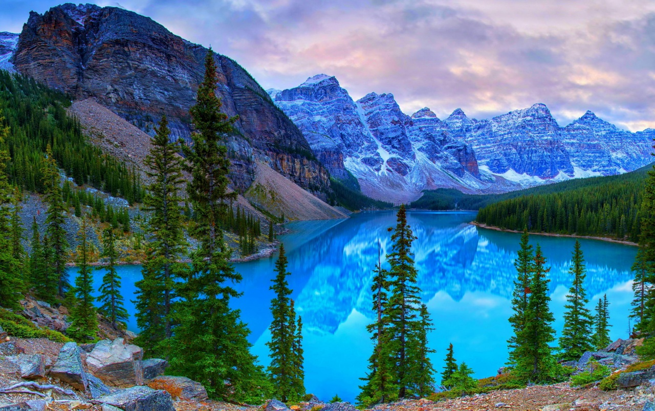 Canada Mountains Lake Moraine Wallpapers Canada Mountains Lake