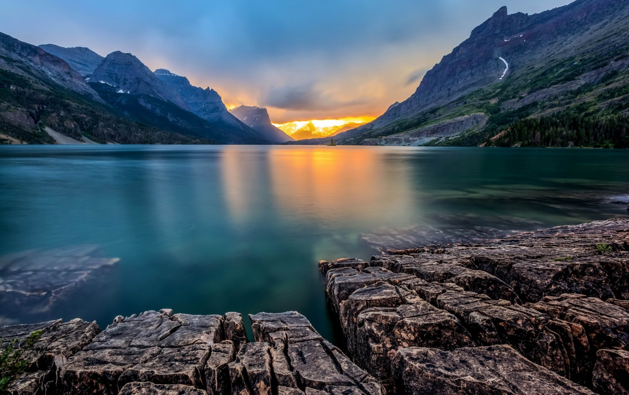 Saint Mary Lake Usa wallpapers
