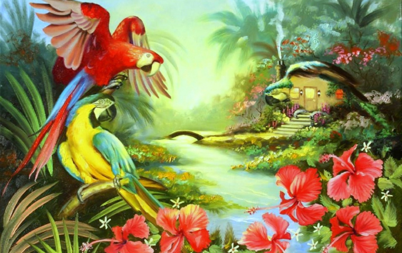 Macaw Fantasy Home wallpapers