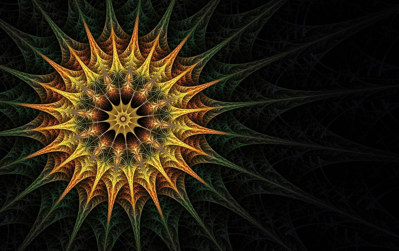 Calico Fractal Sun wallpapers