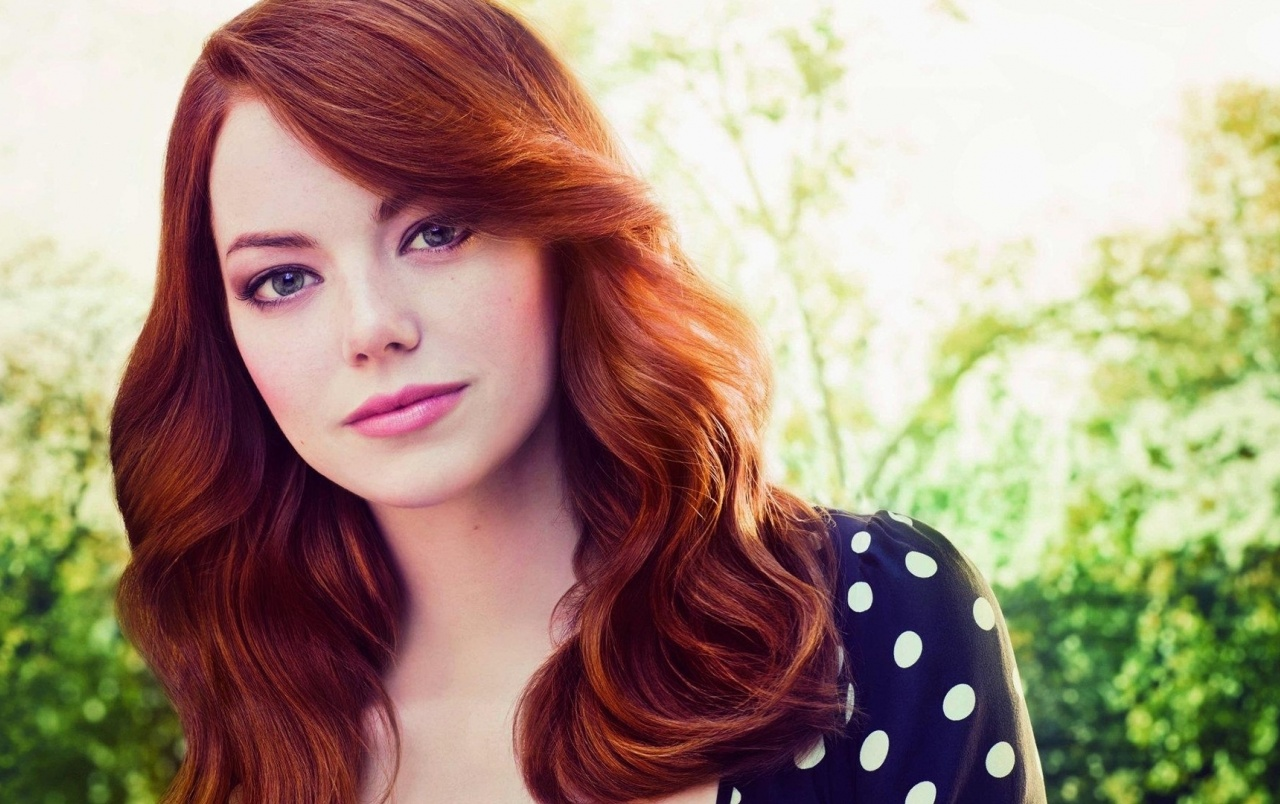 Emma Stone Red Hair Close-up wallpapers