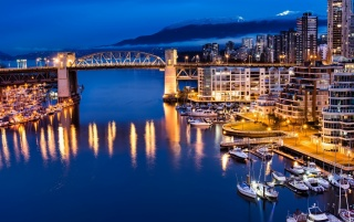 Vancouver Canada Night View wallpapers