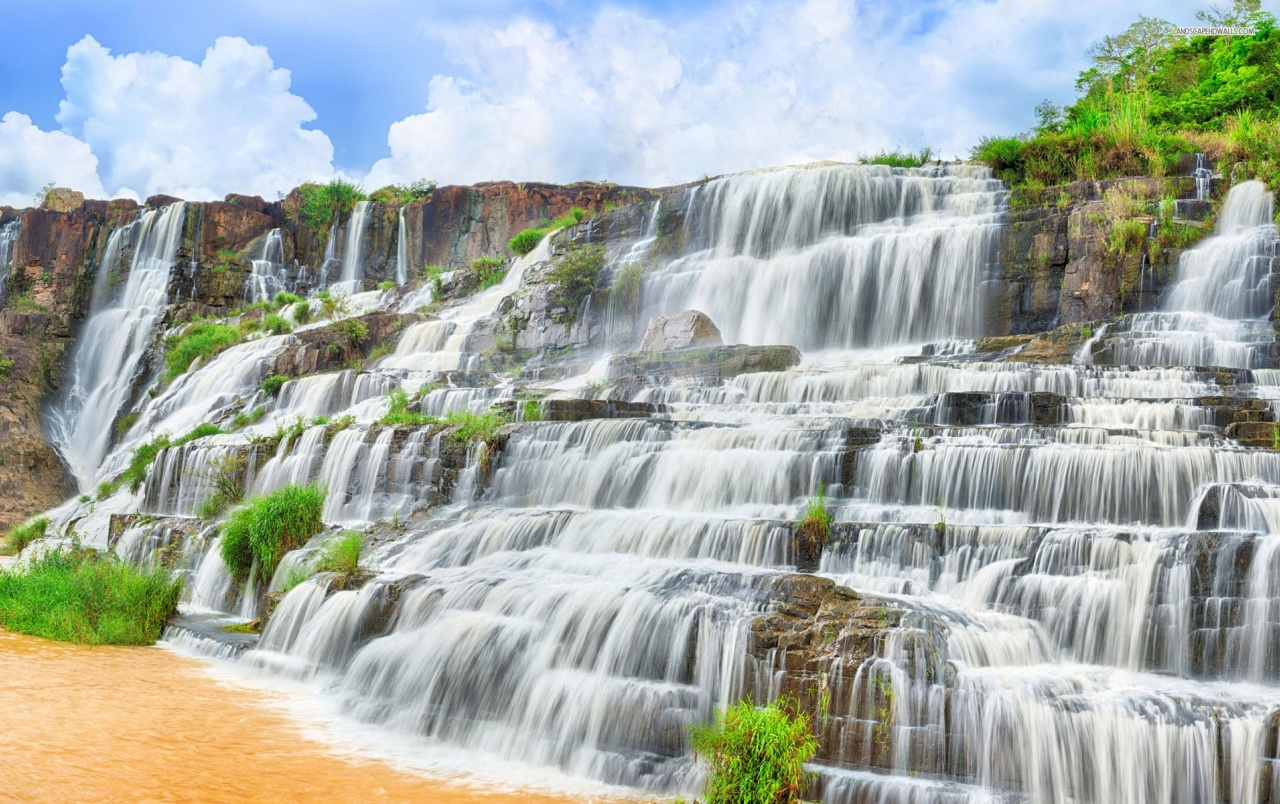 Pongour Falls Vietnam Asia wallpapers