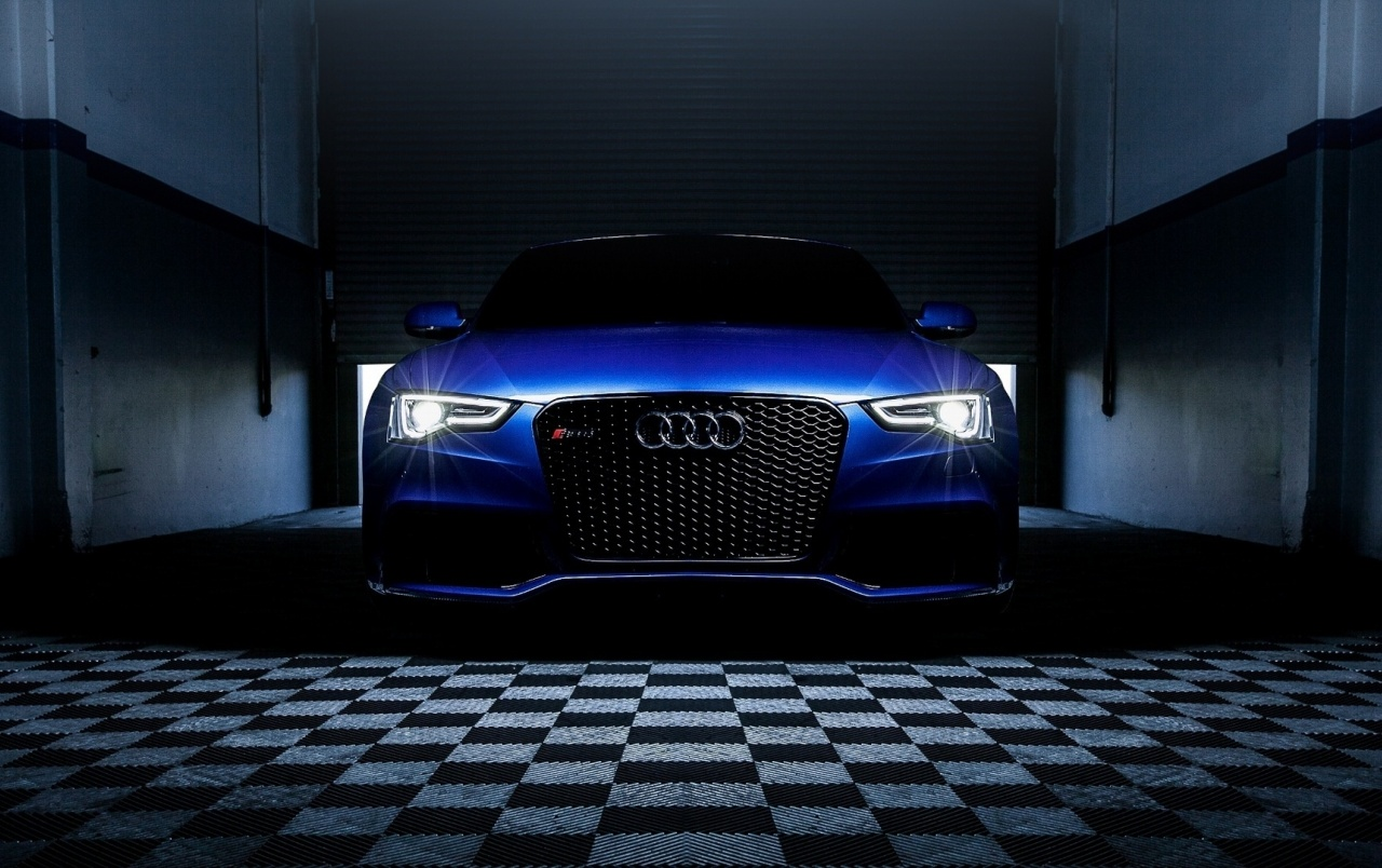 Blue Audi RS5 Headlights wallpapers