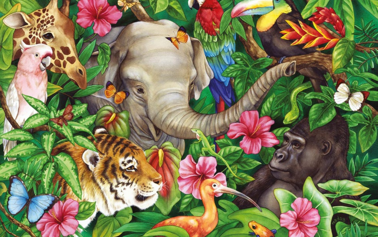Fondo De Pantalla Selva: Jungle Animals Two Wallpapers