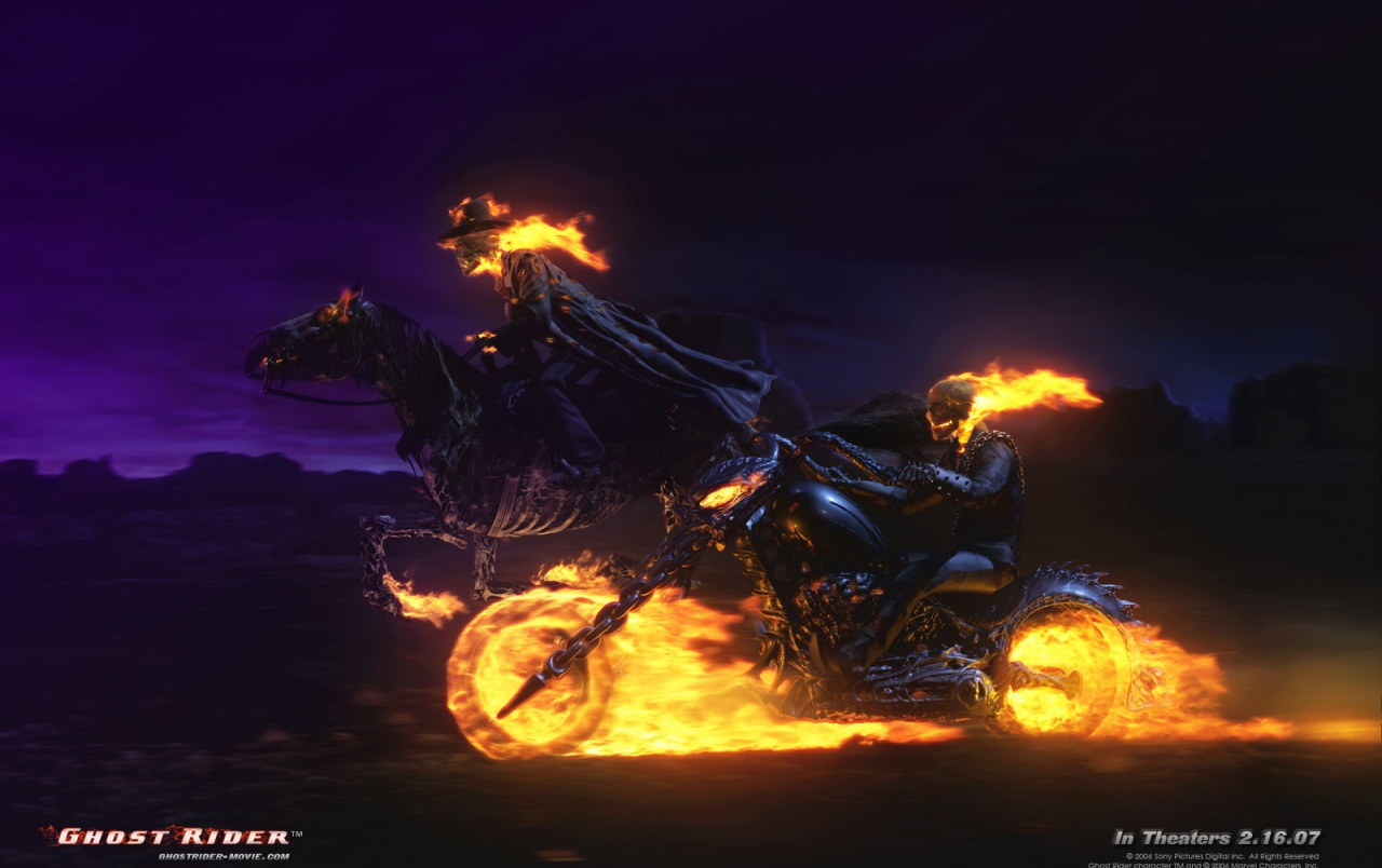 Ghost Rider stock photos