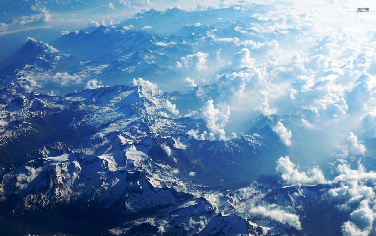 Lovely Mountains Fluffy Clouds wallpapers