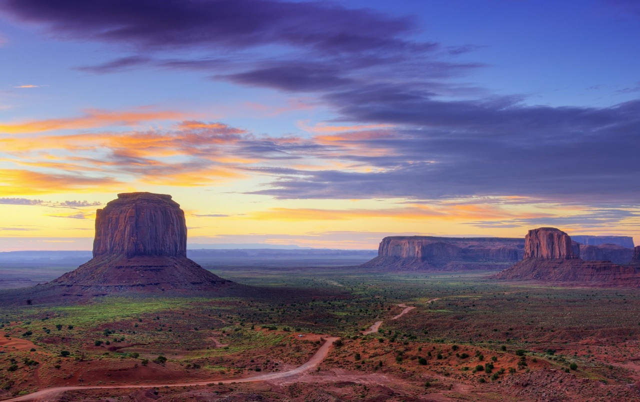 purple sky over canyon utah wallpapers | purple sky over canyon utah