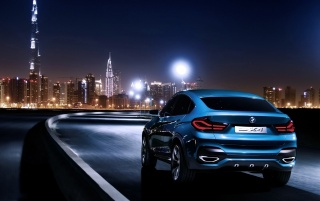 Background Car Hd Wallpapers Cities: Blue BMW X4 In Dubai Wallpapers