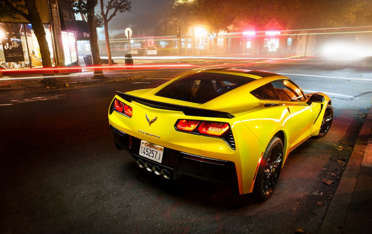 HD Yellow Chevrolet Corvette Stingray Wallpapers