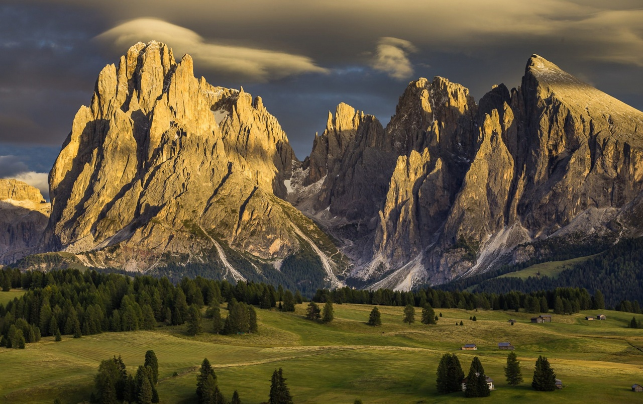 Alpe Di Siusi Dolomites Italy wallpapers and stock photos