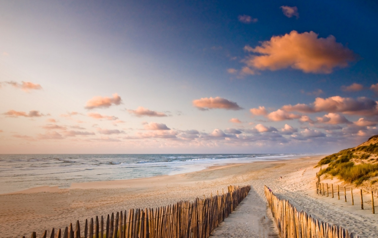 Pretty Beach Way Fence Ocean wallpapers