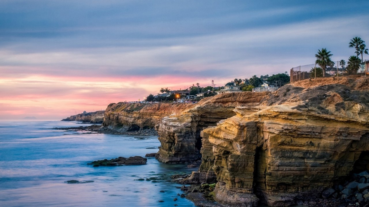 Ocean Cliffs Houses San Diego wallpapers