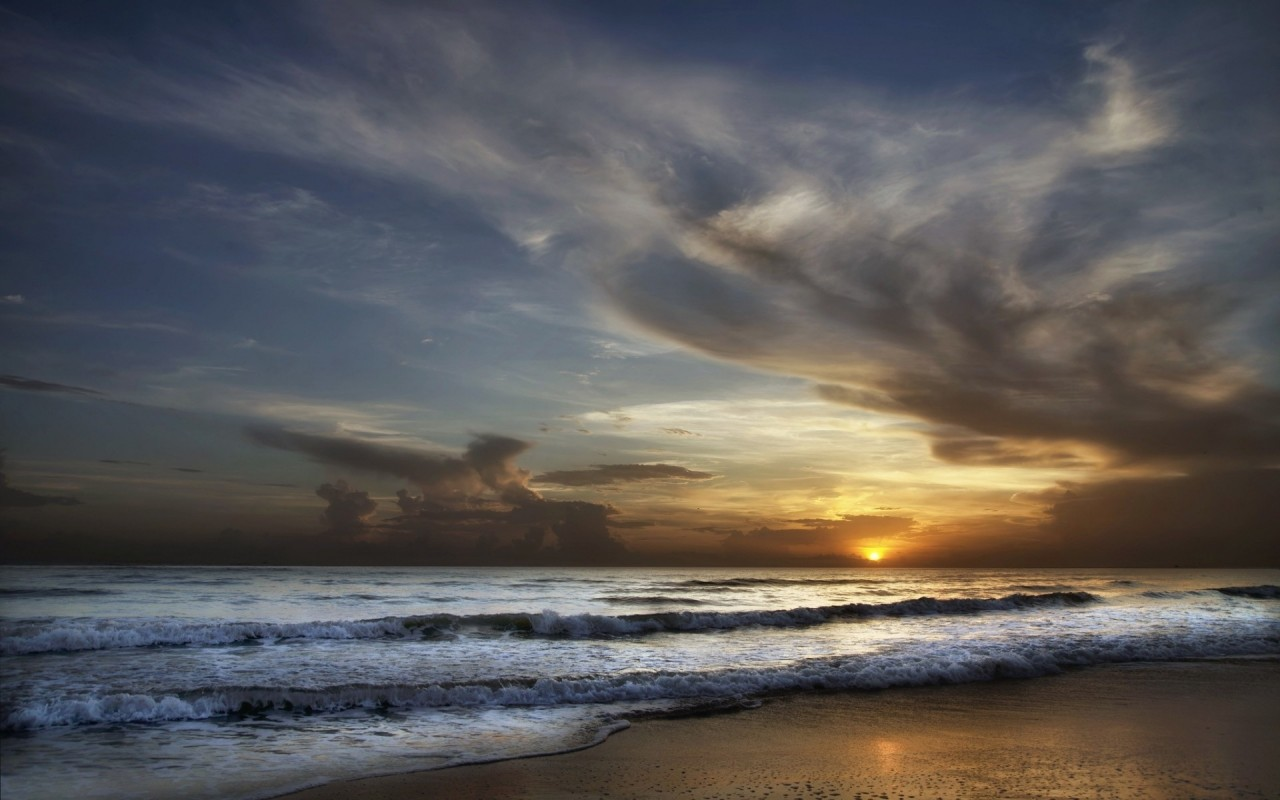 Magnificent Ocean Cloud Sunset wallpapers