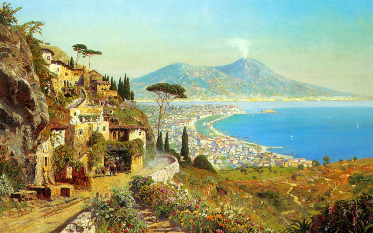OriginalWide Wonderful Bay Of Naples Wallpapers