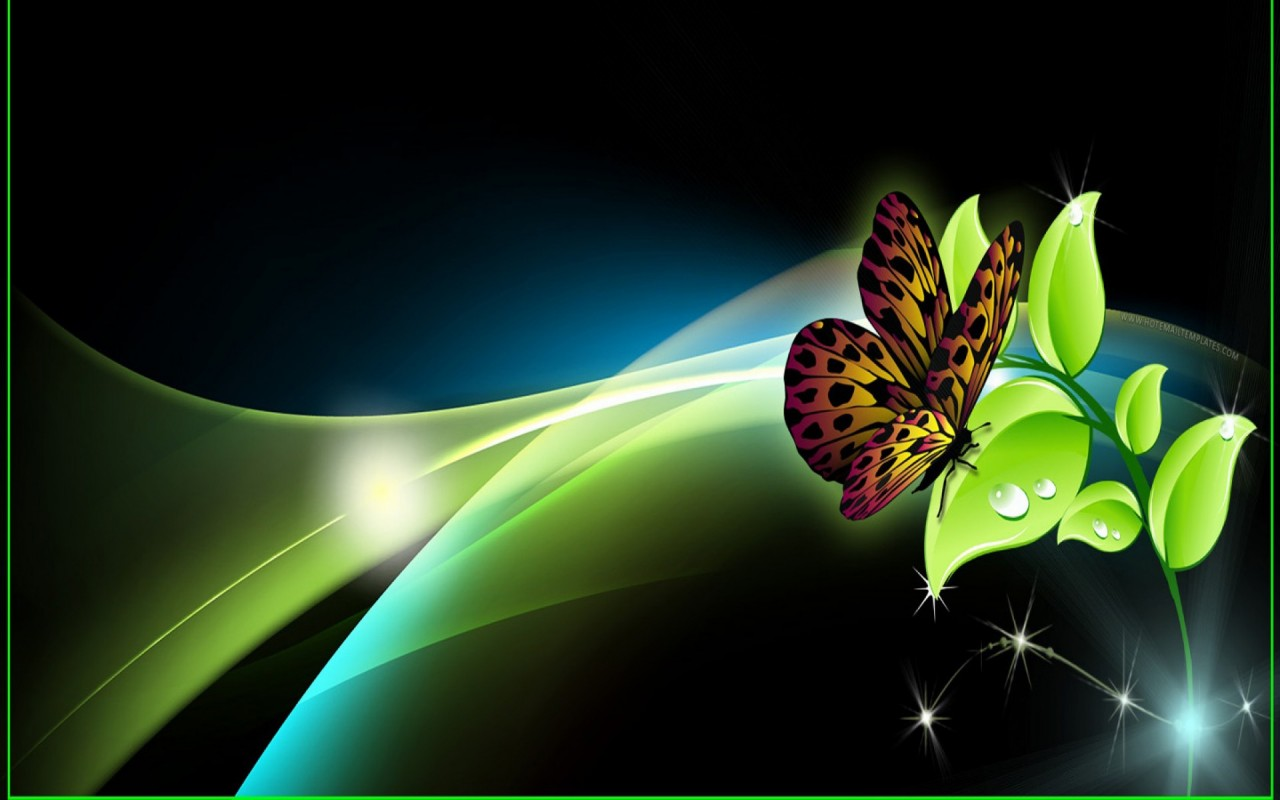 OriginalWide Butterfly Bright Leave Sparkle Wallpapers