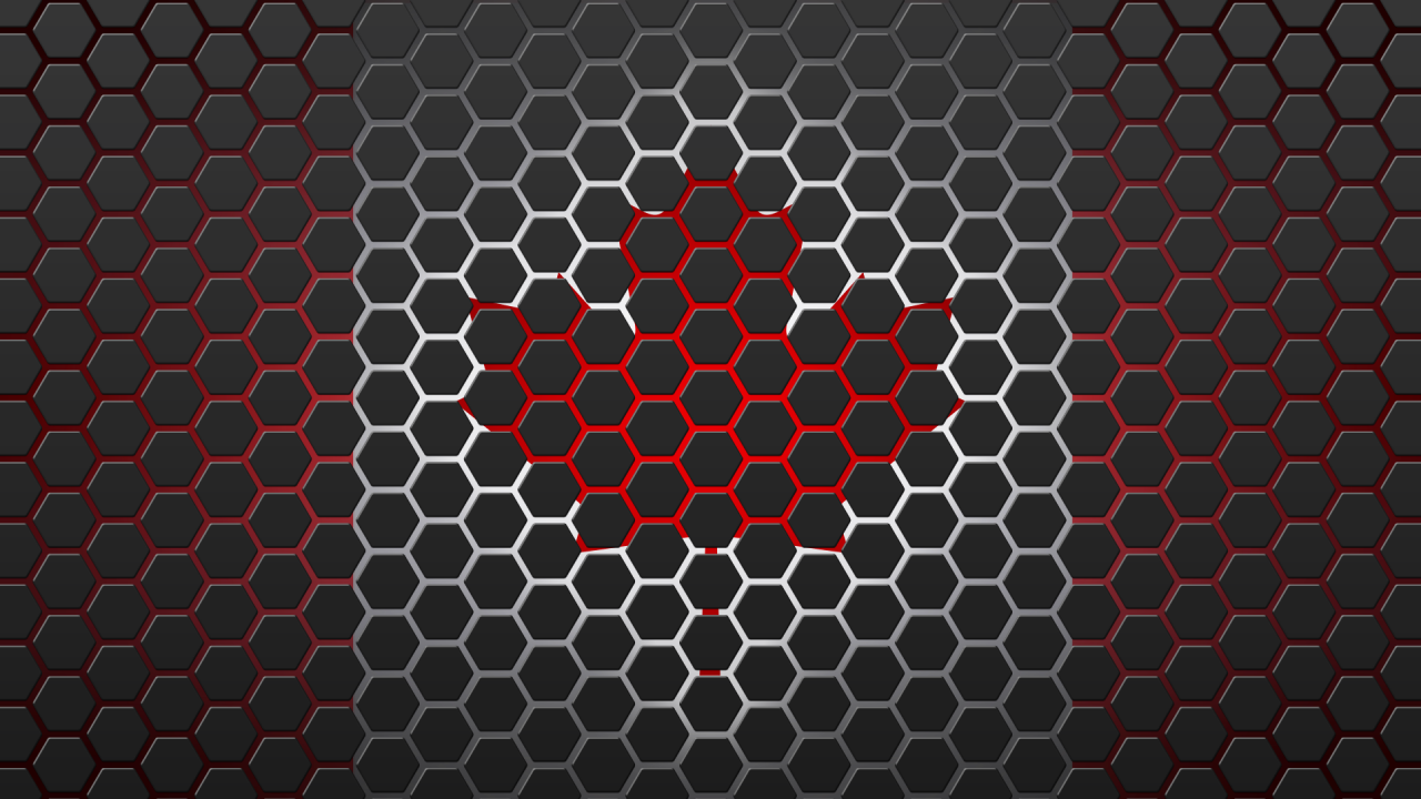 canada flag hexagon design wallpapers canada flag