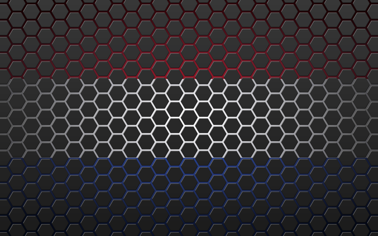 Netherlands flag with hexagons wallpapers