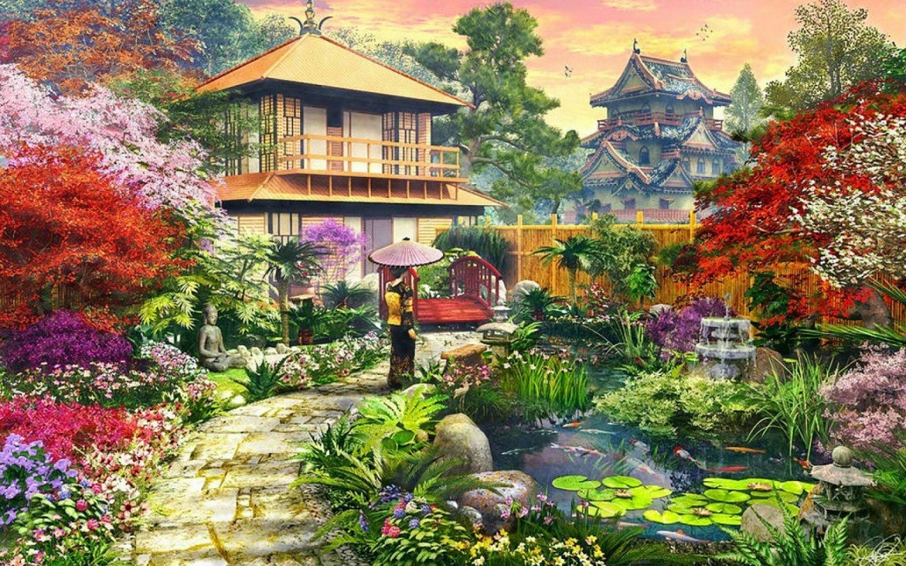 splendid japanese garden wallpapers splendid japanese