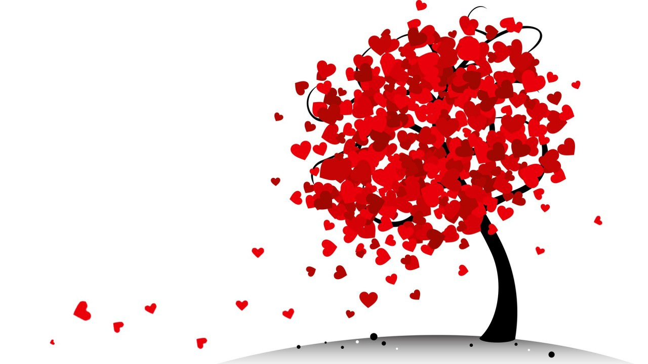 OriginalHD Red Heart Tree Wallpapers