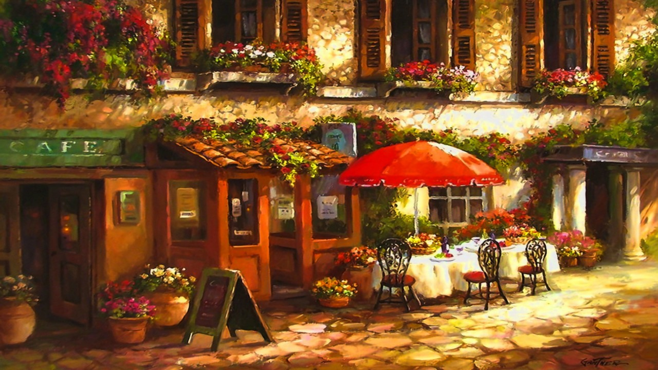 Street Cafe Paintings