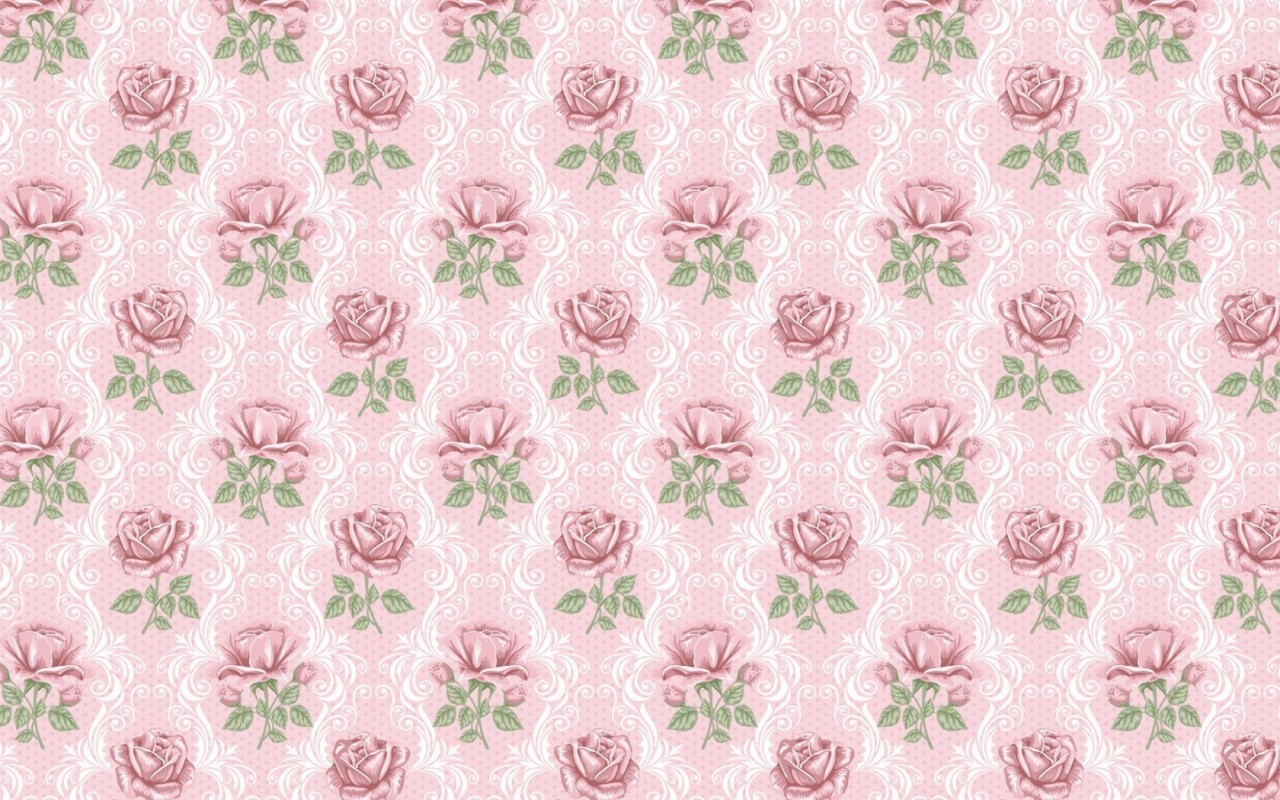 Delicate Pink Roses Pattern Wallpapers Delicate Pink Roses