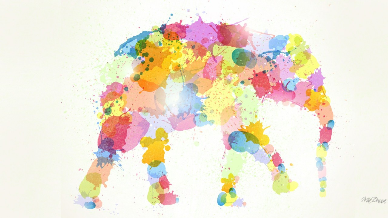 Colorful Elephant wallpapers