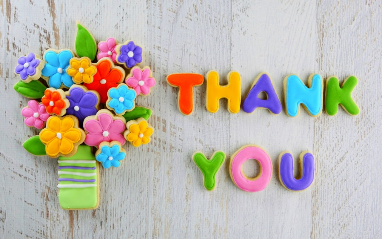 Cookies Flowers Thank You Wallpapers