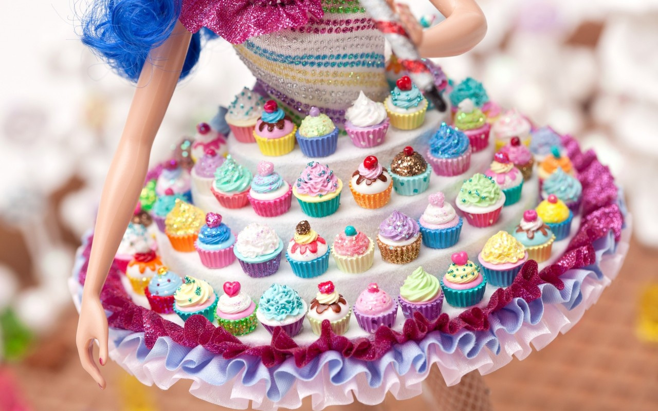 Cup Cake Dress Doll wallpapers