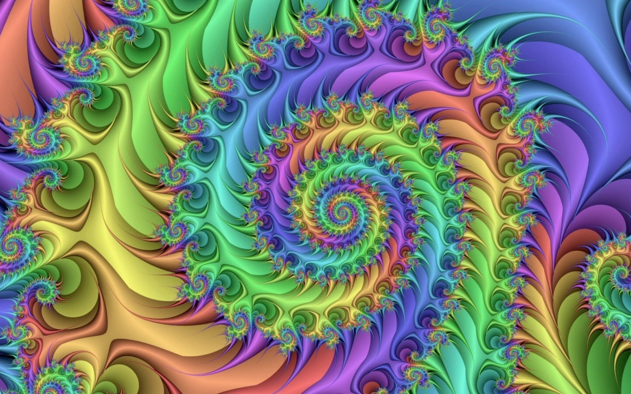 Colorful Spiral Fractal wallpapers