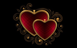 Luxury Hearts Red wallpapers