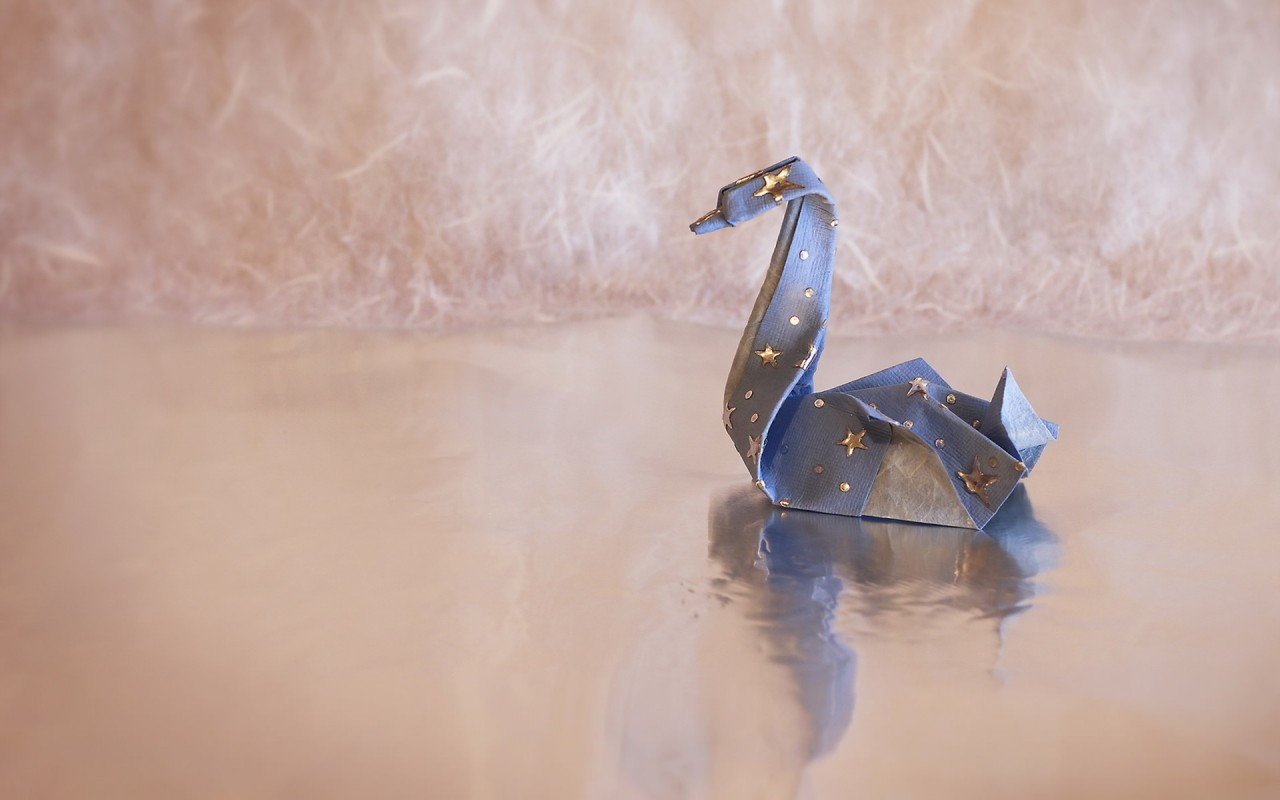 Origami Swan Wallpapers And Stock Photos