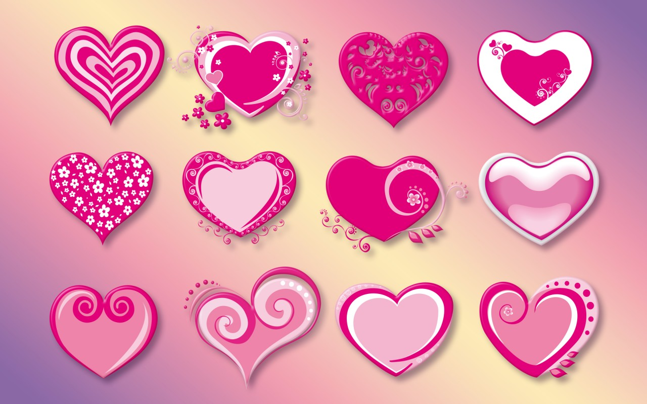 Creative Pink Hearts wallpapers