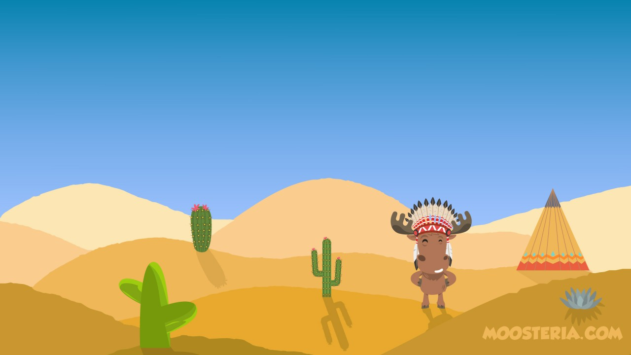 Moose at the Desert wallpapers