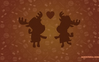 Moose Loving Couple wallpapers