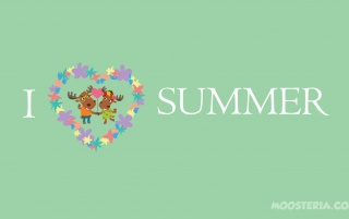 Moose Love Summer wallpapers