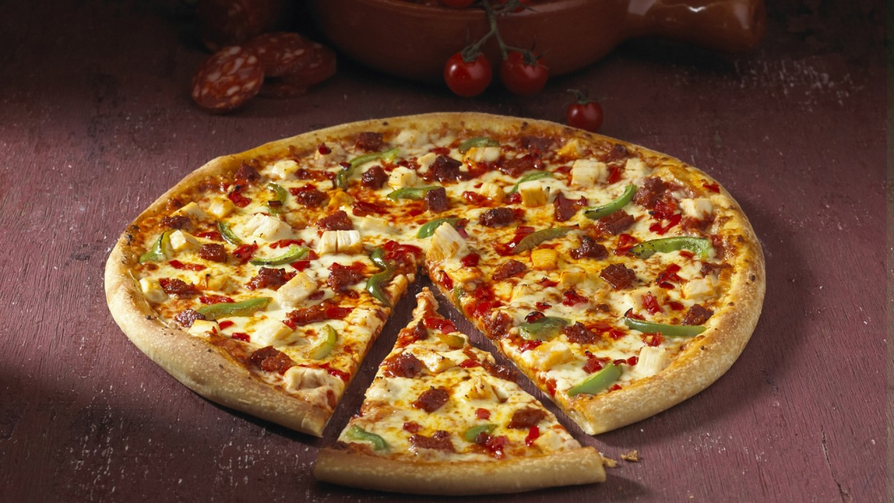 Pizza Piece Vegetables Baked wallpapers