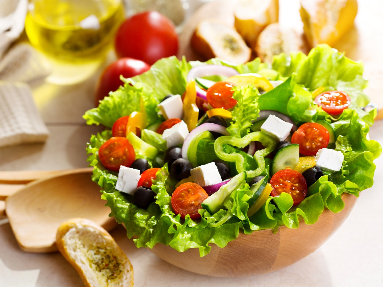 Salad Greek Vegetables Food wallpapers