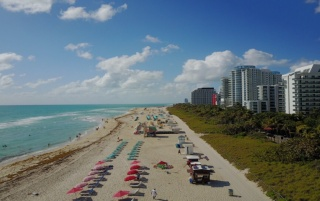 Miami Beach South view aerial wallpapers