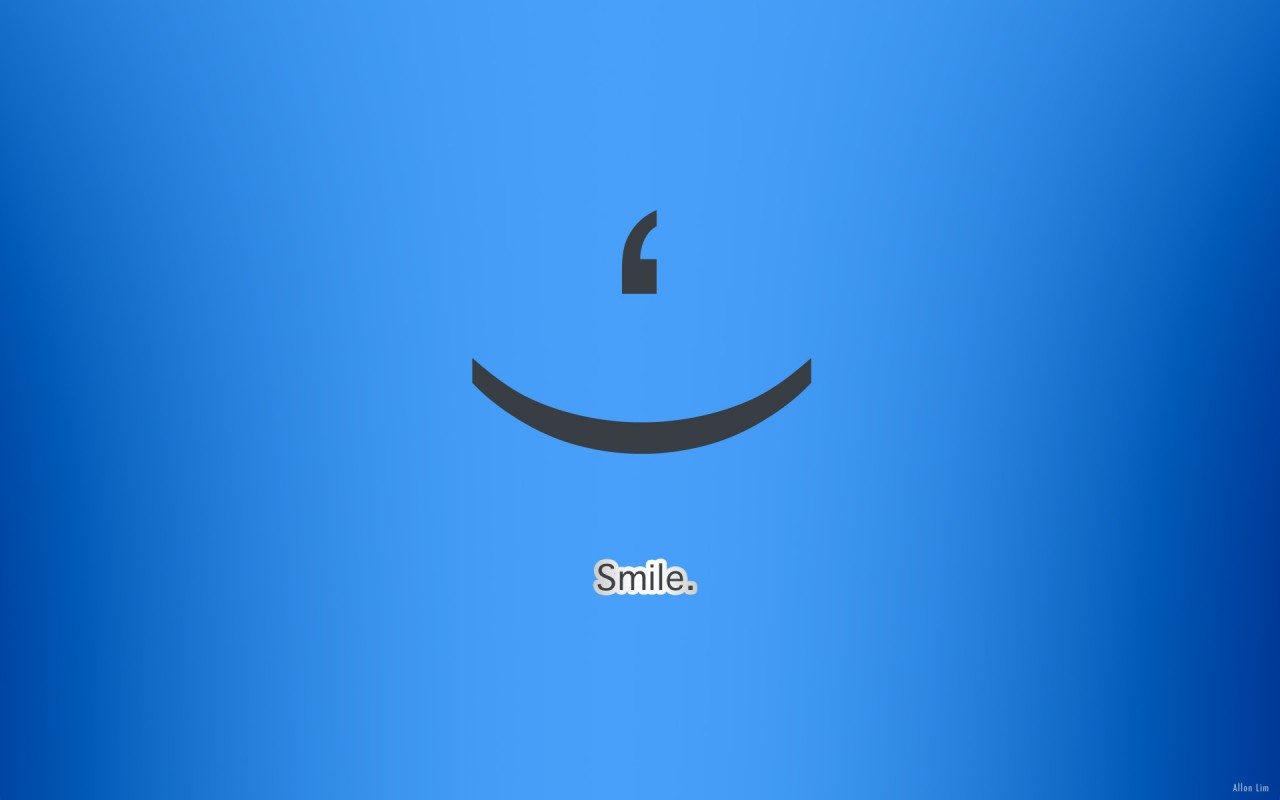 Smile, blue wallpapers