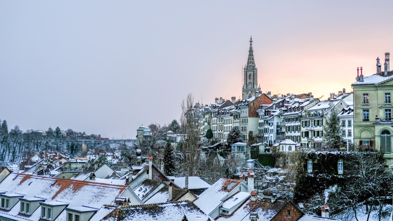 buildings, roofs, winter, snow wallpapers