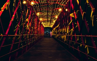 bridge, decoration, lighting wallpapers